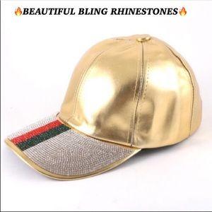 Accessories - HOT🔥🆕GOLD RHINESTONE CAP